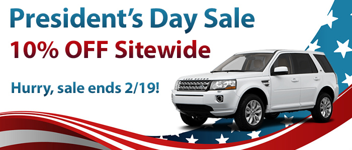 Get 10% Off during our President's Day sale!